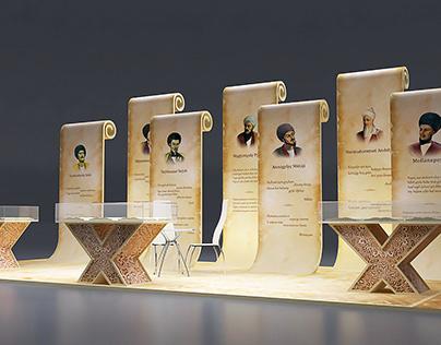 Exhibition stand - Turkmen poet