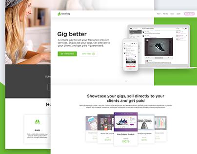 Landing page for freelancer's web app