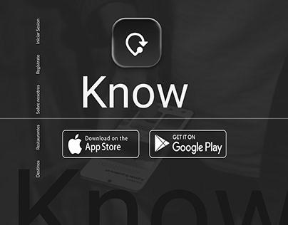 Know Travel App / web