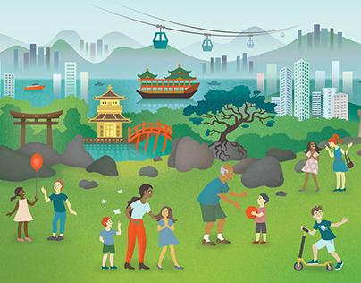 Hong Kong for children illustration