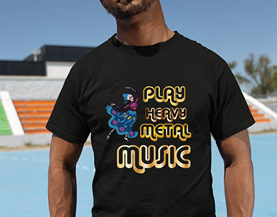 Play Heavy metal music t-shirt
