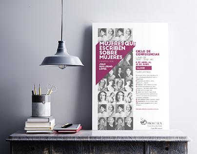 Cartel: Mujeres que escriben sobre mujeres