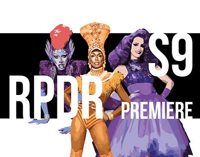 Rupaul's Drag Race S9 Premiere Posters