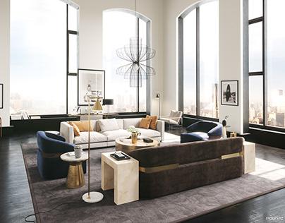 Classic Modern Living | corona render