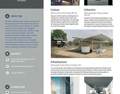 architect cv english
