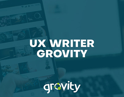 UX Writing - Grovity plataforma web - Ejemplos textos