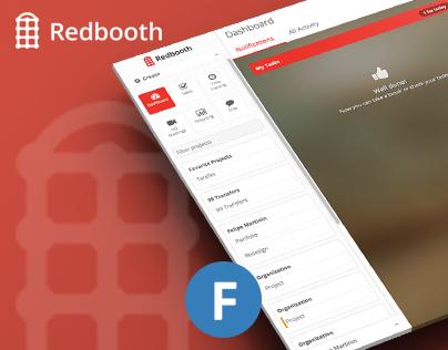 Redbooth Redesign by Felipe Martinin