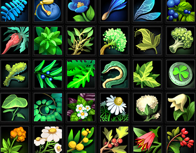 Alchemy Herbs Icons 02