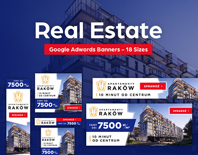 Real Estate - Google Adwords Banners - 18 Sizes