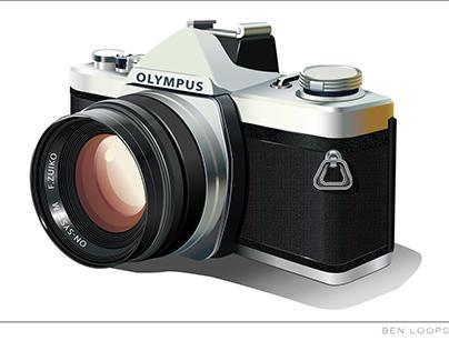 Camera Vector Project all done in Illustrator
