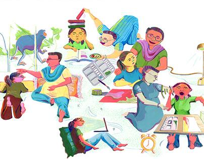 Letter to Mom- Editorial Illustration