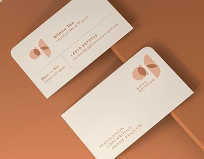 ALPHA SOLUTION LOGO & NAME CARD DESIGN