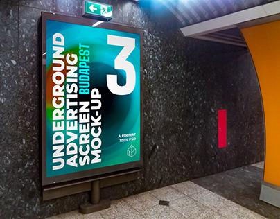 Budapest Underground Ad Screen Mock-Ups 2