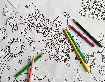 desenhos pra colorir na quarentena