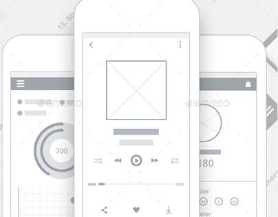 UI/UX App Wireframes