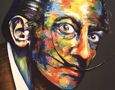 """""""Colours of my mind"""" - Portraits - Acrylics on Canvas"""