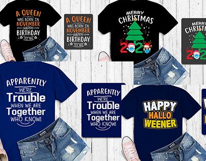 Typography Tshirt design bundle
