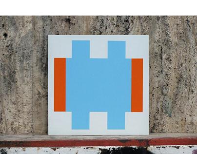 THE BIG ALICATAO 17X17CM vinyl on dibond /hacheblu