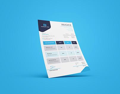 Invoice Template Design or Letterhead Design