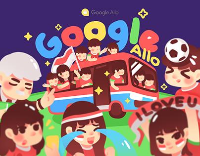 Google Allo - Indonesia Soccer Stickers