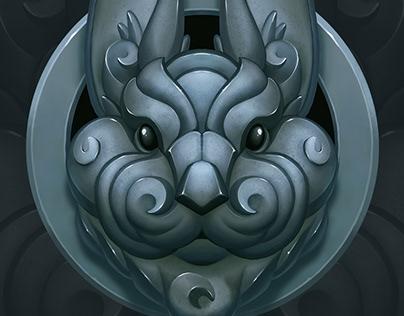 Rabbit tattoo print