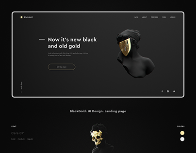 BlackGold. UI Design