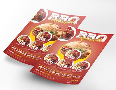 Burger Food Flyer Template