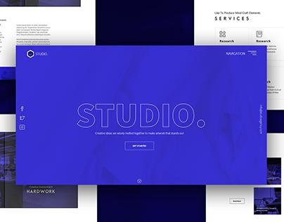 Digital Agency Landing Page UI Web Design