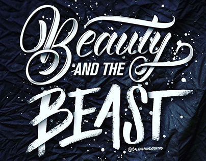 Beauty & the Beast | Lettering workshop