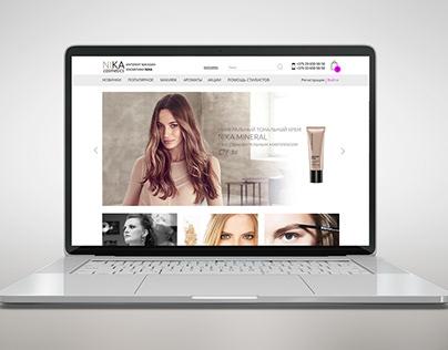 Web Design Cosmetic Store