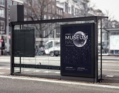 Museumnacht Antwerpen '18 - Minimalist poster design