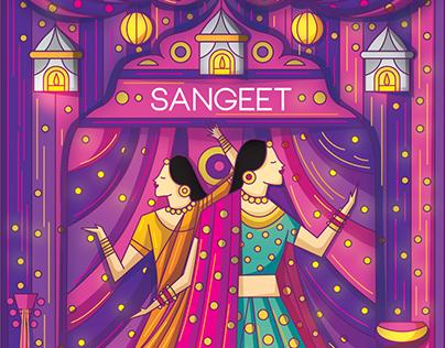 Contemporary Indian Wedding Invitation Suite 2