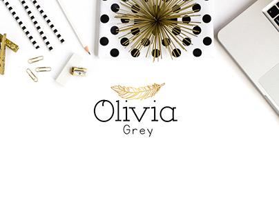 Olivia Grey Feminine Logo Design