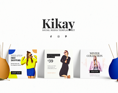 Kikay - Fashion Social Media Template Set
