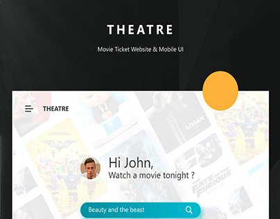 THEATRE - FREE MOBILE APP & WEBSITE UI