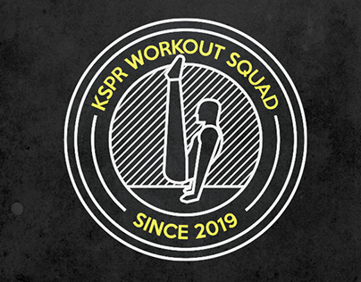 KSPR Workout squad - logo design
