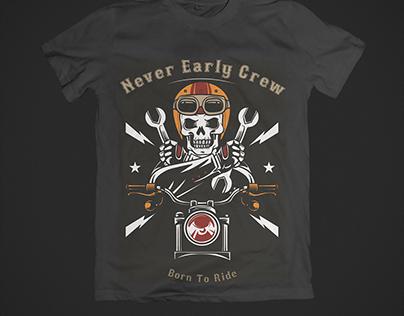 Bikers club T-Shirt design.