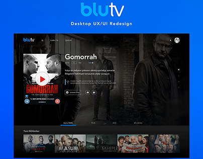 Blu TV app UX/UI
