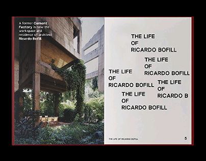 THE LIFE OF RICARDO BOFILL – ARCHITECTURE