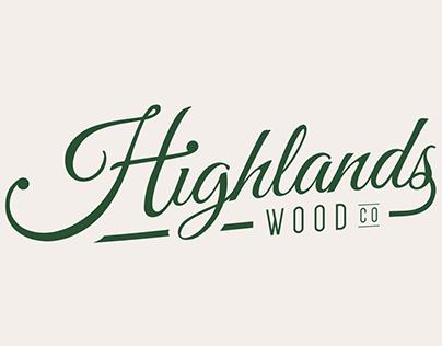 Highlands Wood Co Logo Design