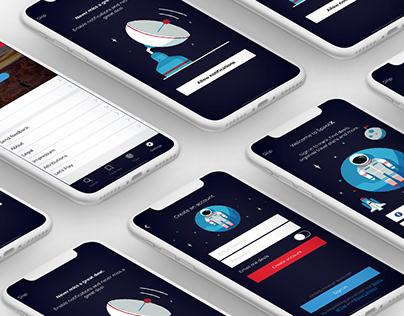 Space X - UX/UI App
