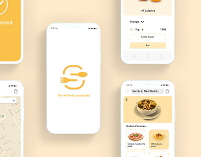 Sorted - Grocery shopping app (UI/UX)