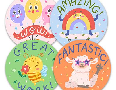 Kids Rewards Sticker Design