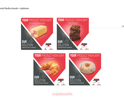 Social visuals template voor AMF Bakery