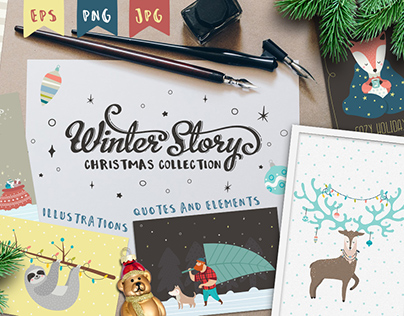 Winter Story. Christmas collection