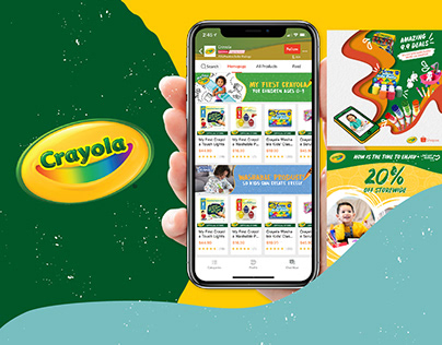 Crayola Social Media & E-Commerce Content
