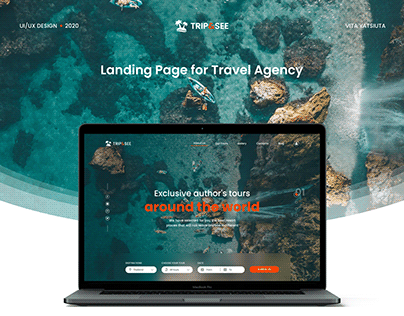 Landing Page for Travel Agency / Concept