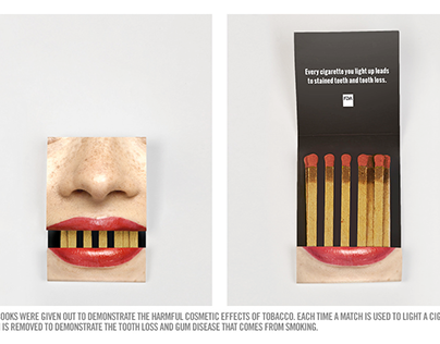 Anti-Smoking Matchbook