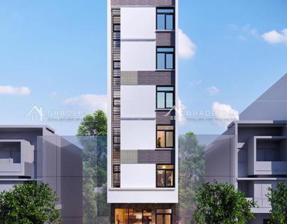 Thiết kế nhà phố 7 tầng diện tích 5,8×21m hiện đại có t
