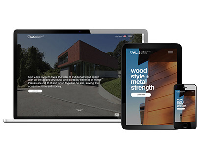 Recreated Website for Cladding Company